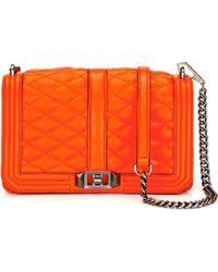 Rebecca Minkoff Orange Love Crossbody - Lyst