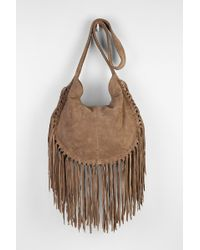 4c853e7b2 Ecote - Bettina Suede Fringe Hobo Bag - Lyst