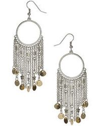 Topshop Star And Chain Drop Earrings silver - Lyst