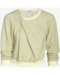 Emma Cook - Marled Sweatshirt Lemon - Lyst