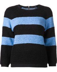 Tibi Panda Boucle Striped Sweater - Lyst