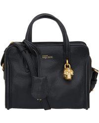 Alexander McQueen Mini Black Padlock Bag - Lyst