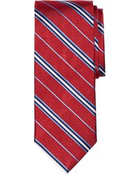 Brooks Brothers Framed Split Stripe Tie - Lyst