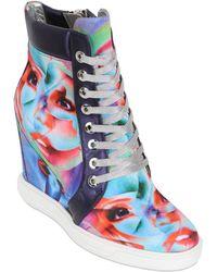 Gianmarco Lorenzi 100mm Surrealism Wedged Silk Sneakers - Lyst