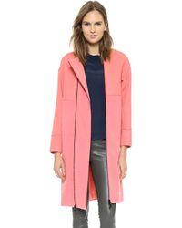Opening Ceremony Bram Wool Double Zip Coat Petal Pink - Lyst