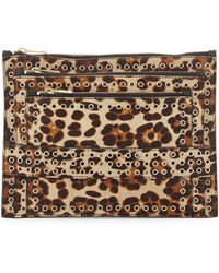 Ash Ruby Calf Hair Grommet Clutch Bag - Lyst