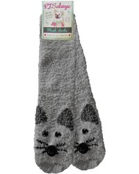 Pj Salvage - Mouse Bed Socks - Lyst