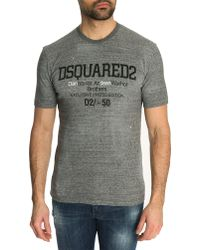 DSquared² Mottled Grey Jersey T-Shirt With Speckled Pattern - Lyst