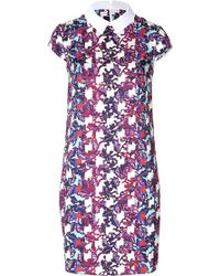 Peter Pilotto | Silk Print Shirtdress | Lyst
