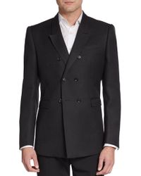 Burberry Prorsum Double-Breasted Wool Blazer - Lyst