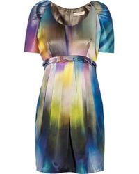 Matthew Williamson Printed Silk-satin Mini Dress - Lyst
