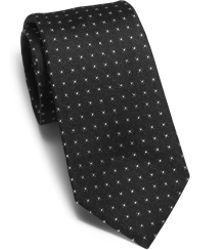 Michael Kors - Dotted Woven-silk Tie - Lyst