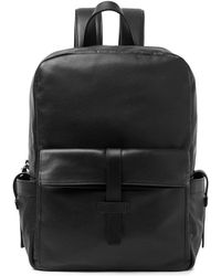 Whistles Black Leather Backpack - Lyst