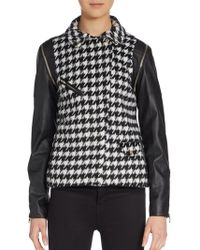W118 by Walter Baker Demi Houndstooth Convertible Jacket - Lyst