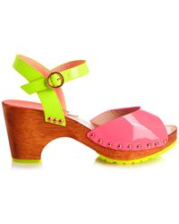 Sophia Webster Ava Patent-Leather Sandals - Lyst