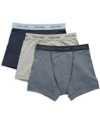 Calvin Klein Three Pack Classic Fit Trunks - Lyst