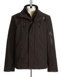 Calvin Klein Fleece Lined Pant Coat black - Lyst
