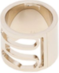 Balenciaga Pale Gold Buckle Ring - Lyst