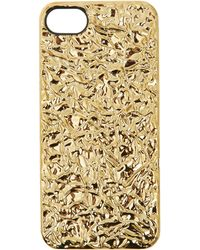 Marc By Marc Jacobs Gold Foileffect Iphone 5 Case - Lyst