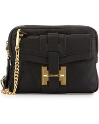 Halston Heritage Small Double-zip Crossbody Bag - Lyst