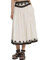 Suno Full Yoke Skirt - Lyst