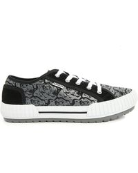 Kenzo Black And Grey Tiger Helmut Sneakers - Lyst