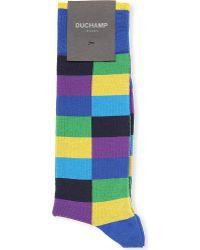 Duchamp Harlequin Socks - For Men - Lyst