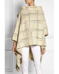Vivienne Westwood Anglomania Gaia Checked Woolblend Cape - Lyst