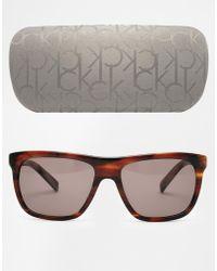 CK Calvin Klein - Ck Wayfarer Sunglasses - Lyst
