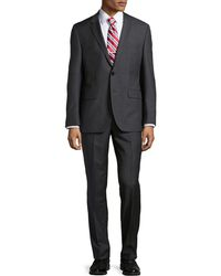 Hugo Boss Houndstooth Check Wool Suit - Lyst