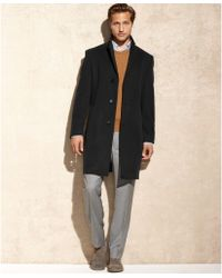 Calvin Klein Solid Plaza Cashmere-blend Big and Tall Over Coat - Lyst