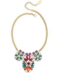 Adia Kibur Floral Jewel Necklace - Fuschia - Lyst