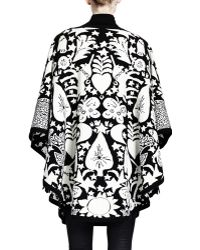Alexander McQueen Fairy Taleprint Poncho with Tunnel Belt - Lyst
