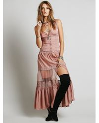 Free People Victoria Buttonfront Maxi - Lyst