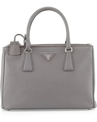 Prada Saffiano Small Executive Tote Bag With Strap - Lyst
