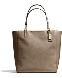Coach Madison Northsouth Tote In Saffiano Leather - Lyst