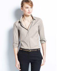 Ann Taylor Petite Perfect Long Sleeve Button Down Shirt - Lyst