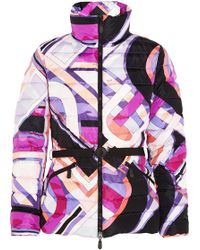 Emilio Pucci Quilted Printed Shell Down Jacket - Lyst