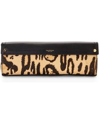 Isaac Mizrahi New York - Black & Tan Real Calf Hair Sylvie Clutch - Lyst