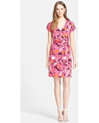 Diane von Furstenberg 'Jilda Two' Floral Print Silk Wrap Dress - Lyst