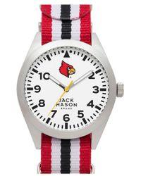 Jack Mason Brand 'university Of Louisville Cardinals' Nato Strap Watch - Multicolour