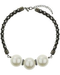 Topshop Large Faux Pearl Necklace - Lyst