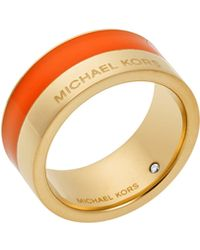 Michael Kors Logo Colorblock Ring - Orange