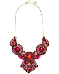 Zad Fashion Inc. - Medallion Marvel Necklace In Pink - Lyst