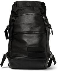 Tim Coppens Leather And Nylon Backpack - Black