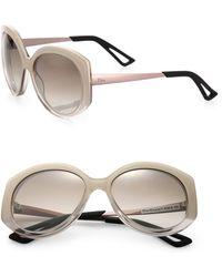 Dior Extase 58Mm Round Sunglasses white - Lyst