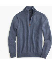 J.Crew - Slim Cotton-cashmere Half-zip Jumper - Lyst
