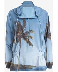 Adidas By Stella McCartney Palm-Print Jacket - Lyst
