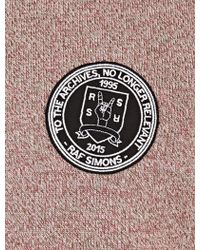 Raf Simons | Rose-marl Logo Patch Wool Sweater | Lyst