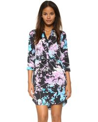 Diane von Furstenberg | Freya Printed Stretch-silk Shirtdress | Lyst